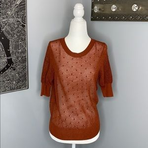 Burnt Orange Zara Knit Sweater